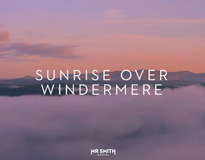 Sunrise over lake Windermere - Drone Film & Photography