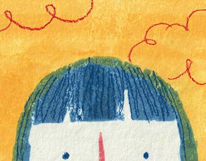 En las nubes | Leporello ilustrado