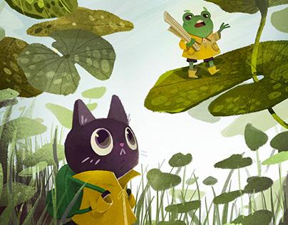 digital children illustration