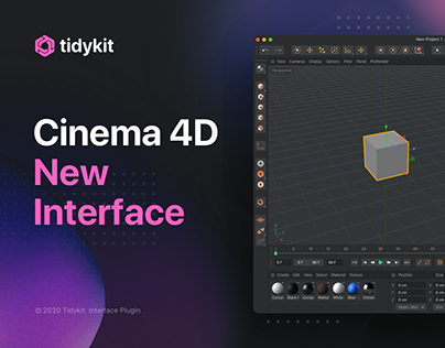 New Cinema 4D User Interface. Tidykit