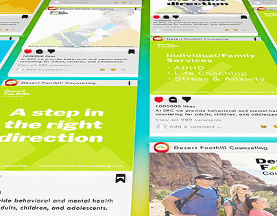 Desert Foothill Counseling   Brand Identity, Collateral
