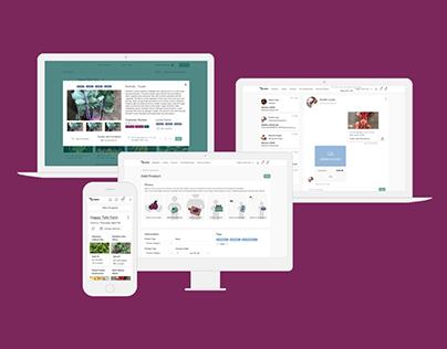 Online Farmers Market Design: a case study