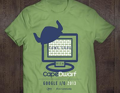 CapeDwarf T-Shirt for Google I/O Event