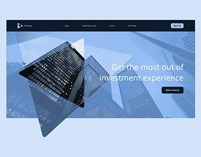 Broker website concept