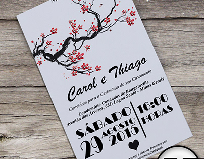 Convite de Casamento - Carol e Thiago - 2015