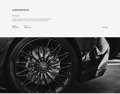 Website for a car haulage company