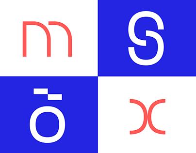 Modiz - modular typeface