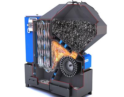 """Coal Heating Boiler """"Prometey"""""""
