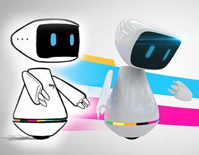 myke - mytv's robot Mascot Redesign