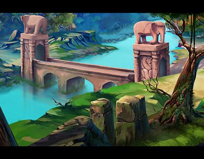 الفارس و الاميرة.الجسر