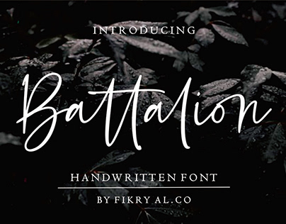 Free Font: Battalion