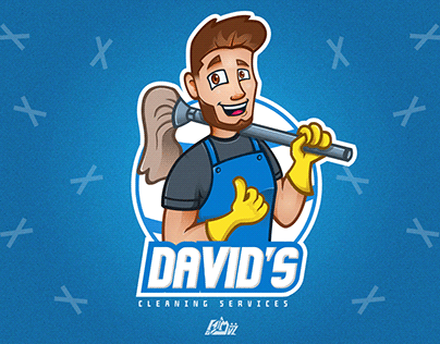 Cleaner Mascot Logo
