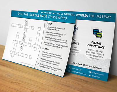 Postcards with interactive crossword puzzle