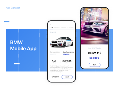 UI/UX Design for Mobile App | BMW App