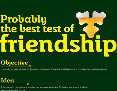 Probably the best test of friendship