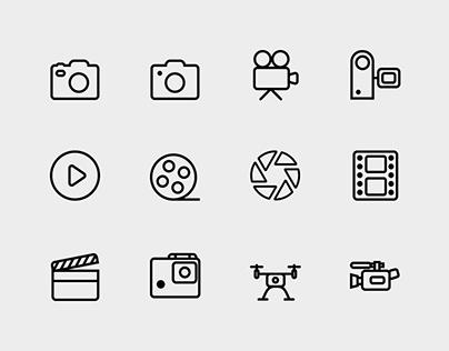 Camera & Film Icons