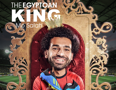 mohamed salah , mo salah, Egyptian king, poster