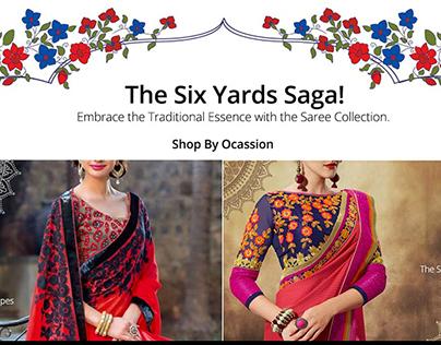 Sarees Web page Design