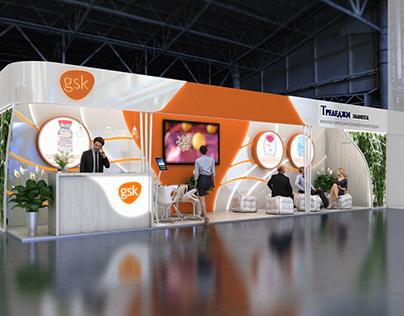 GSK exhibition stand