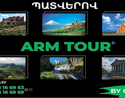 Tour banner with places of interest in Armenia