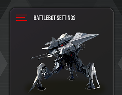 DailyUI #007 - Battlebot Settings Page