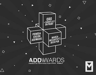 ORO + Shortlist - PREMIOS ADDWARDS PUEBLA