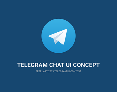 Telegram Chat UI Concept