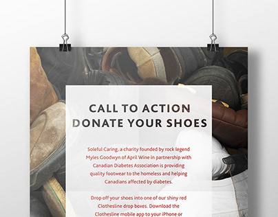 CDA Donate Your Shoes poster design