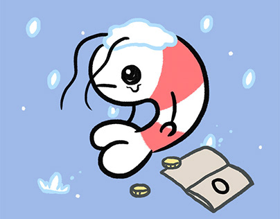 Crying shrimp -winter- sticker pack