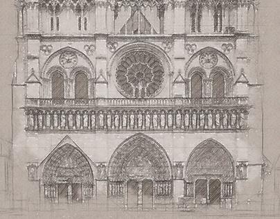 Monumental - Architecture Sketch Photoshop Action
