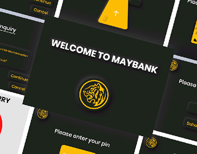 Maybank ATM - Neumorphism   UI Design