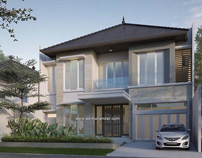 Desain Moderen Tropis Darmahusada Inda selatan Surabaya