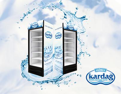 Erimez Kardağ Natural Spring Water Cooler Glass Door