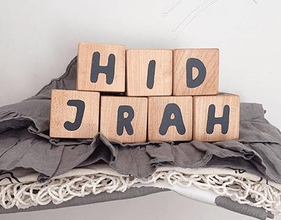CUSTOM LETTERS FOR HIDJRAH 1438