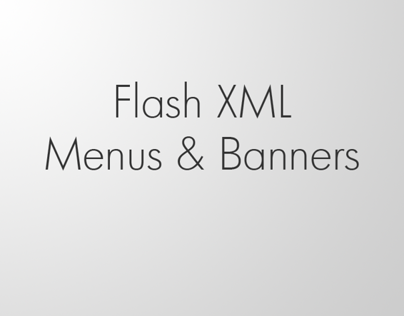 Flash XML Menus and Banners