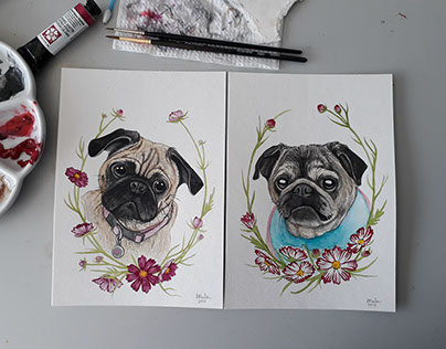 Watercolour Pet Portraits