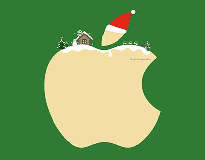 Apple Logo Christmas Edition