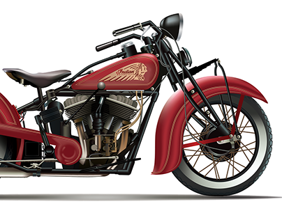 1935 Indian Chief Illustration