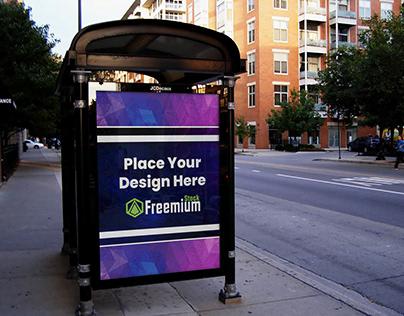 FreeStreet Portrait Billboard Mockup