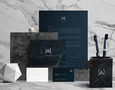 A WHITE - Brand Identity concepts