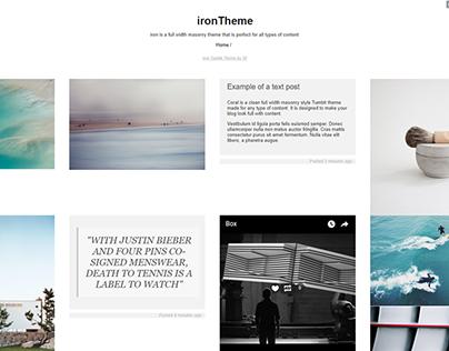 Tumblr theme I'm working on.