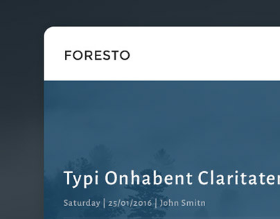 FORESTO - Dashboard Template