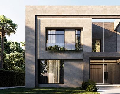 Modern villa renovation exterior design, UAE