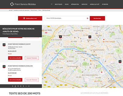 Point Service Mobiles - Store Locator