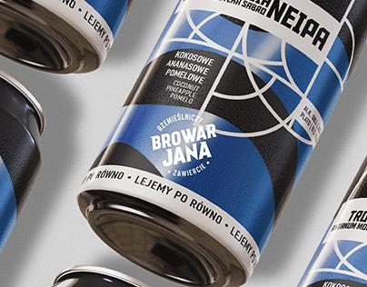 Browar Jana - Beer Can Labels Design