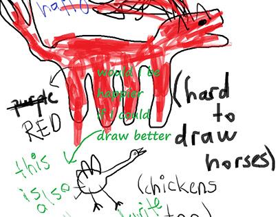 hard to draw horses
