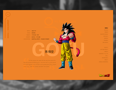 DragonBall Z Stat Cards