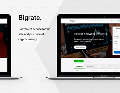 Crypto exchange service Bigrate