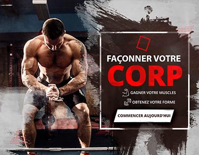 POWERFUL Concept Nouvelle salle de Gym (instagram post)
