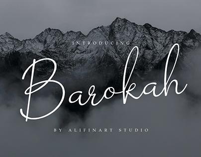 FREE FONT | Barokah Signature